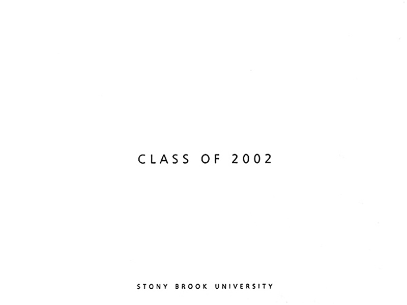 STONY BROOK UNIVERSITY • Class of 2002 Private Party Invitation: Front