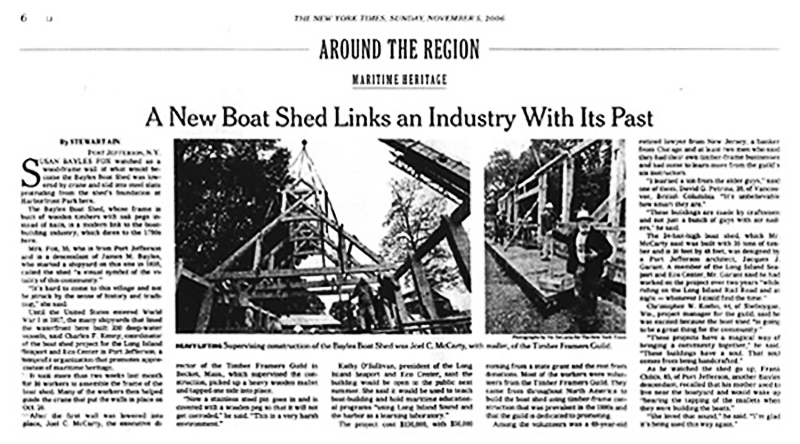 The New York Times | A New Boat Shed Links and Industry With Its Past