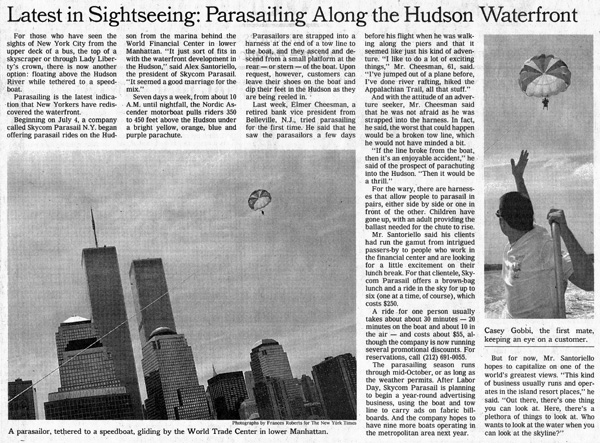 The New York Times, Casey Gobbi - Latest in Sightseeing