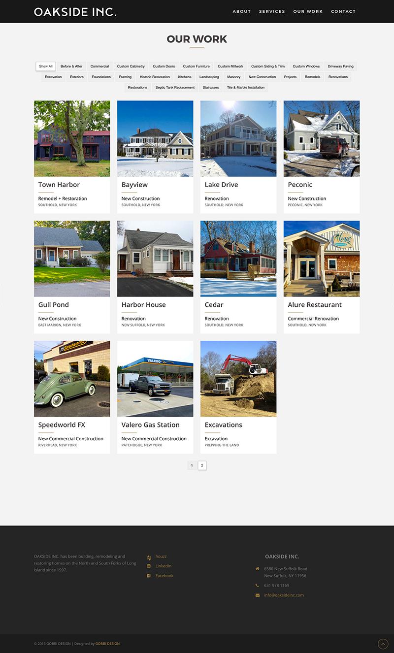 OaksideInc.com - Work Page
