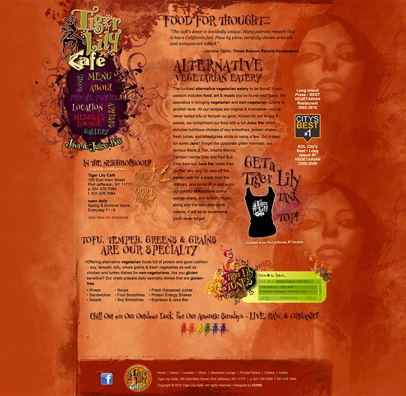 tigerlilycafe.com Home Page